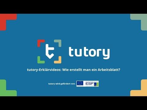 tutory-Erklärvideos: Wie erstellt man ein Arbeitsblatt?