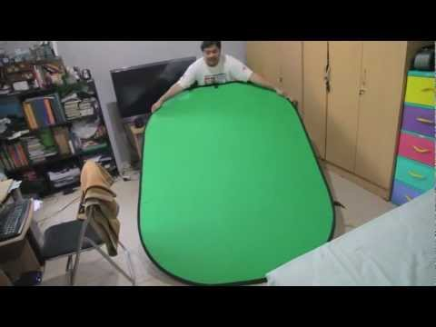 HOW to Fold Portable Green Screen/Blue Screen